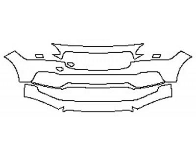 2017 VOLVO S90 T6 INSCRIPTION Bumper