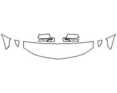 2020 CHEVROLET TAHOE PREMIER Hood(18 Inch) Fenders Mirrors
