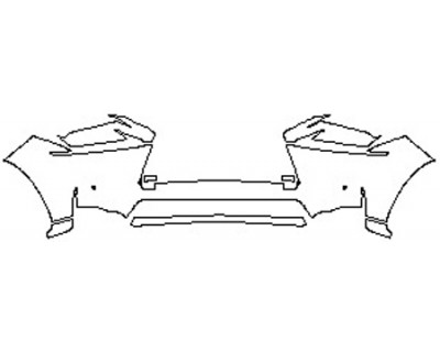 2017 LEXUS NX TURBO Bumper With Sensors (7 Piece)