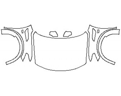 2020 NISSAN ARMADA SL Full Hood(Wrapped Edges) Fenders Mirrors