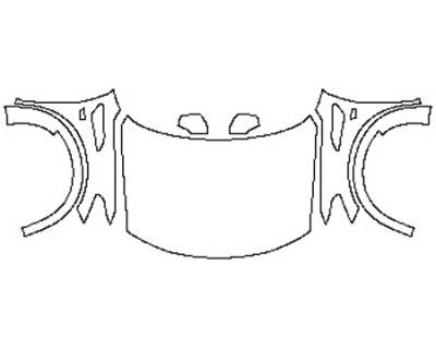 2020 NISSAN ARMADA SV Full Hood Fenders Mirrors