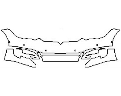 2019 TESLA MODEL S Bumper with Sensors (8 Piece)