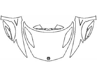 2017 ACURA NSX Full Hood Fenders Mirrors