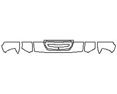 2017 GMC SIERRA 3500HD DURAMAX Hood(12 Inch) Fenders