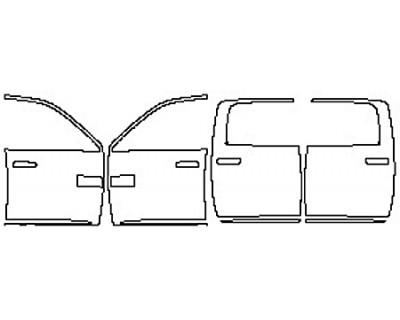2017 DODGE RAM 2500 LARAMIE Full Doors With Molding (Mega Cab)