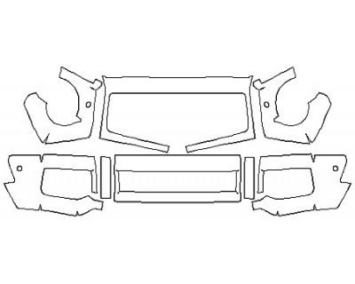 2017 MERCEDES G-CLASS SUV G65 AMG Bumper with Sensors