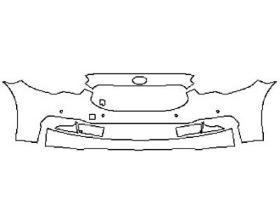 2017 KIA K900 V6 LUXURY Bumper with Sensors (3 Piece)