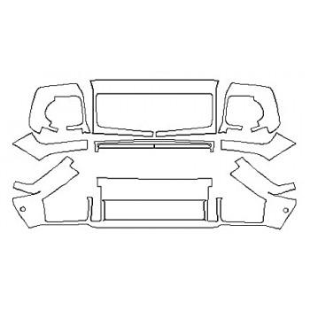 2017 MERCEDES G-CLASS SUV G550 Bumper With Sensors