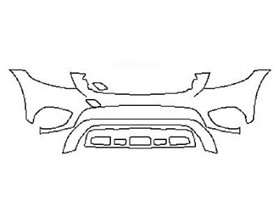 2017 MERCEDES GLC-CLASS SUV GLC300 BASE Bumper
