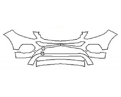 2017 MERCEDES GLE-CLASS SUV GLE350 4MATIC BASE Bumper (5 Piece)