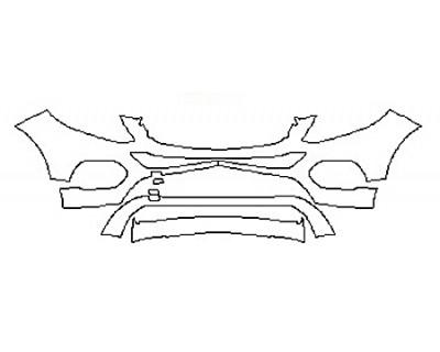 2017 MERCEDES GLE-CLASS SUV GLE350 BASE Bumper (3 Piece)
