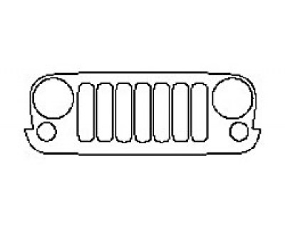 2017 JEEP WRANGLER WINTER Grille With Emblem