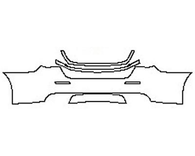 2017 MASERATI QUATTROPORTE S BASE Full Rear Bumper