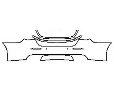 2017 MASERATI QUATTROPORTE S BASE Full Rear Bumper With Sensors