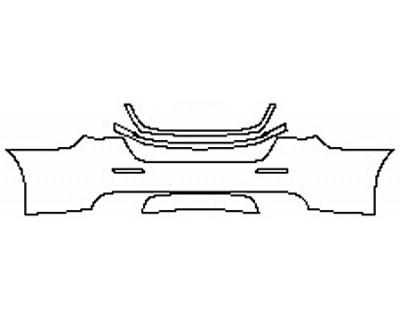 2017 MASERATI QUATTROPORTE S GRANLUSSO Full Rear Bumper