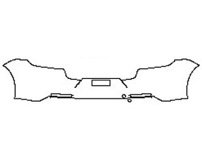 2018 PORSCHE PANAMERA 4 E-HYBRID Full Rear Bumper