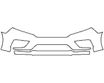 2020 HONDA ODYSSEY EX-L Bumper (2 Piece)