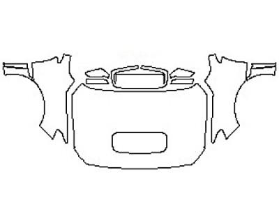 2020 SUBARU WRX BASE Full Hood(Wrapped Edges) Fenders Mirrors