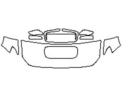 2020 SUBARU WRX BASE Hood(24 Inch Wrapped Edges) Fenders Mirrors