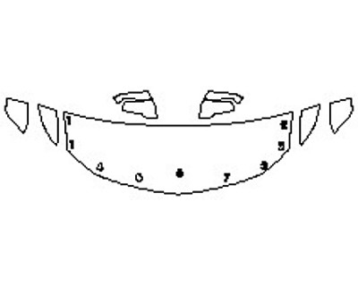 2018 CHEVROLET TRAVERSE LT Hood(24 Inch) Fenders Mirrors