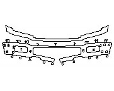 2020 FORD F-150 PLATINUM Bumper (STX PKG)