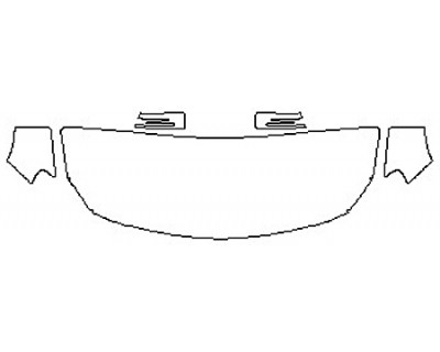 2018 MERCEDES GLA-CLASS SUV GLA250 BASE Hood(24 Inch Wrapped Edges) Fenders Mirrors