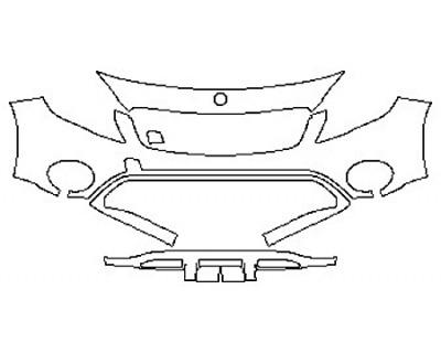 2018 MERCEDES GLA-CLASS SUV GLA250 BASE Bumper