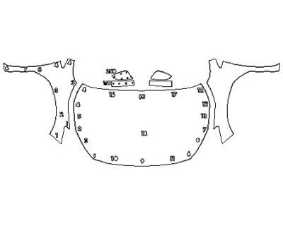 2018 SUBARU CROSSTREK 2.0I BASE Full Hood Fenders Mirrors