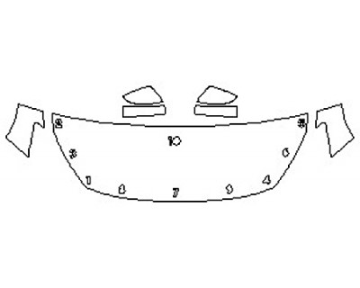 2018 SUBARU CROSSTREK 2.0I BASE Hood(24 Inch) Fenders Mirrors