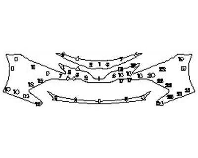 2018 TOYOTA CAMRY HYBRID XLE Bumper