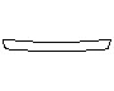 2018 TOYOTA CAMRY XLE Rear Bumper Deck