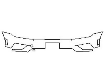 2020 VOLKSWAGEN TIGUAN 2.0T SE Bumper (Plate cutout)