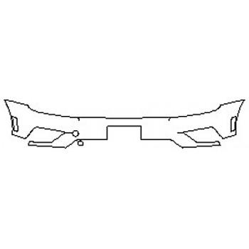 2020 VOLKSWAGEN TIGUAN 2.0T SEL PREMIUM Bumper (Plate cutout)