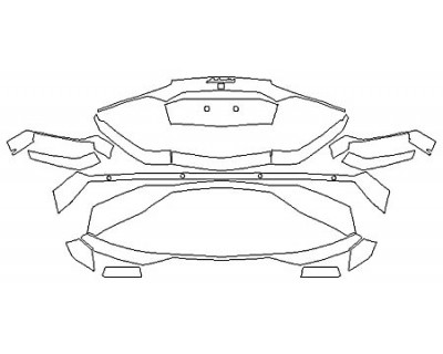 2017 LAMBORGHINI AVENTADOR LP700-4 COUPE Full Rear Bumper