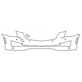 2020 CADILLAC ATS COUPE LUXURY Bumper With Sensors (2 Piece)