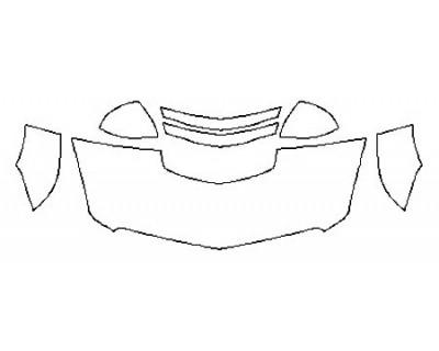 2018 CADILLAC ATS-V SEDAN Hood (24 Inch) Fenders Mirrors
