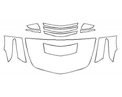 2018 CADILLAC CTS-V SEDAN Hood (30 InchWrapped Edges) Fenders Mirrors