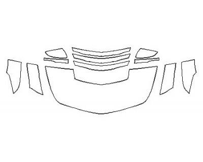 2018 CADILLAC CTS-V SEDAN Hood (24 Inch) Fenders Mirrors