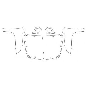 2020 CADILLAC ESCALADE BASE Full Hood Fenders Mirrors