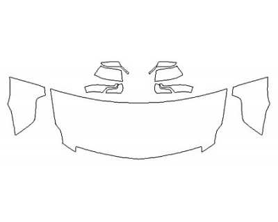 2020 CADILLAC ESCALADE ESV LUXURY Hood (30 Inch) Fenders Mirrors