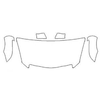 2020 CADILLAC ATS SEDAN PREMIUM LUXURY Hood (30 inchWrapped Edges) Fenders Mirrors