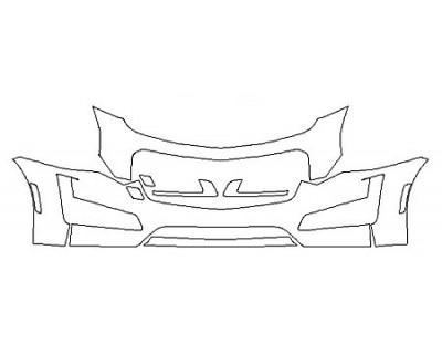 2018 CADILLAC CTS SEDAN V-SPORT PREMIUM LUXURY Bumper (24 Inch)