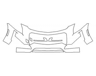 2018 CADILLAC CTS SEDAN V-SPORT PREMIUM LUXURY Bumper (30 Inch)