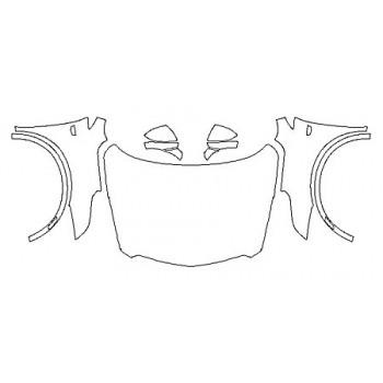 2018 CADILLAC XT5 PLATINUM Full Hood(Wrapped Edges) Fenders Mirrors