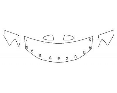 2020 CHEVROLET SONIC HATCHBACK LT Hood(24 Inch) Fenders Mirrors
