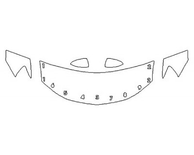 2020 CHEVROLET SONIC SEDAN LS Hood(24 Inch) Fenders Mirrors