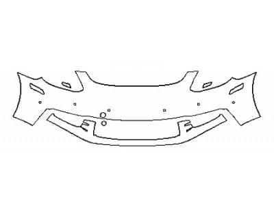 2018 PORSCHE PANAMERA 4 E-HYBRID Bumper With sensors ( 2 Piece)