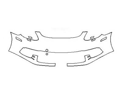 2018 PORSCHE PANAMERA 4 E-HYBRID Bumper With washers ( 1 Piece)