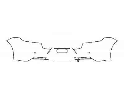 2018 PORSCHE PANAMERA 4 E-HYBRID EXECUTIVE Full Rear Bumper With Sensors