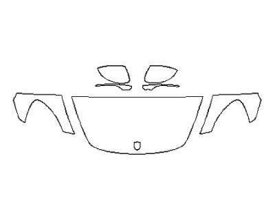2018 PORSCHE PANAMERA 4S - Hood(24 Inch) Fenders Mirrors